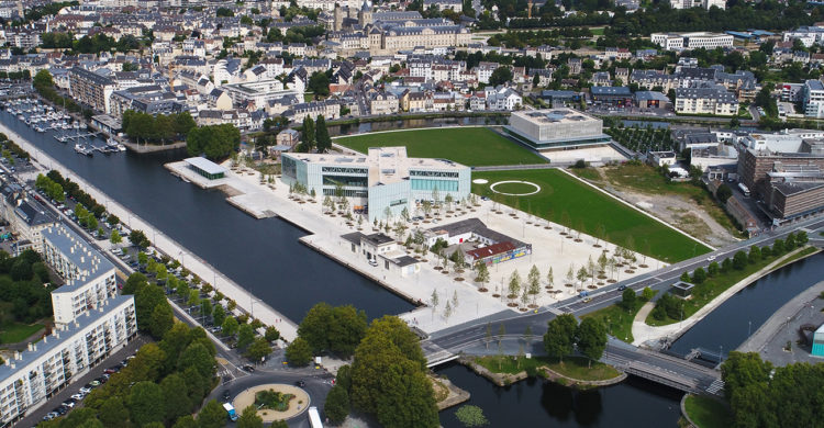 Le réaménagement de Caen presqu'ile, la presqu'île de Caen en Normandie