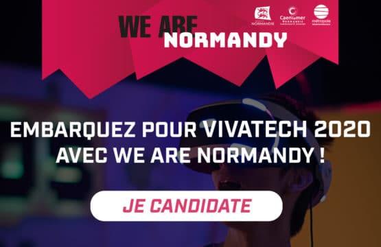 déposez votre candidature we are normandy pour viva technology 2020